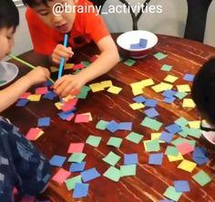 Brain Games, Paper Straws, Exercises, Children, Decor, Young Children, Mind Games, Boys, Decoration