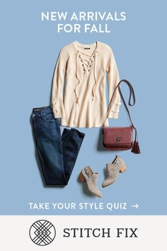 Looking for that perfect statement piece to pull your fall wardrobe together? Your Stitch Fix Stylist will find it and know exactly what styles to pair it with. Tell her your likes, and she'll send five pieces to complement  your fit, style and lifestyle. Schedule a Fix today.