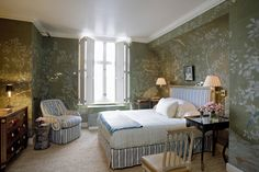 Flora and fauna references are welcomed additions to any room but they're considerably enhanced by a Swedish blue and white stripe, which adds an architectural structure.
