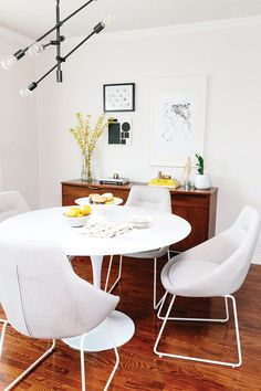 Dining Furniture Ideas : Light and airy, minimal dining room makeover by Amy – Hello Sunshine by Leon's -Read More –
