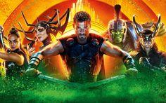 Download wallpapers Thor Ragnarok, 2017, Thor 3, all characters, Hulk, Valkyrie, Cate Blanchett, Tom Hiddleston, Mark Alan Ruffalo, Tessa Thompson
