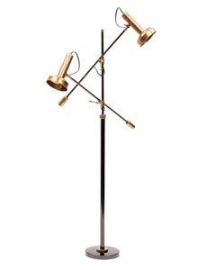 Modern Triennale Floor Lamp Milano in Brass