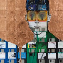 Nick Gentry on recycled floppies