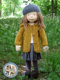 Hermione - natural fiber art doll by Lalinda.pl