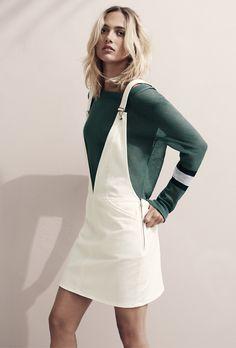 A versão em saia e em sarja da H&M, 39,99€.