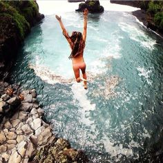 #jumping in to the water