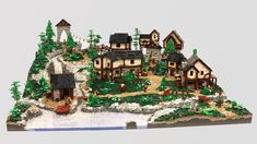 The Village of Thornefeld Collaboration Lego Stuff, Collaboration, Waterfall, Two By Two, Bring It On, Christmas Tree, Holiday Decor, Gallery, Pictures