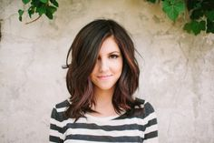 Here's the thing.  This is a really nice mid-length cut.  Nice wave, easy layers.  BUT.  It reminds me so much of Katherine McPhee, which reminds me of just how terrible she was in Smash, that it's hard for me to look at.  Objectively?  A lovely cut.  Good color.