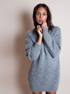 Cosy Isabel Marant knit and nothing else. Love.