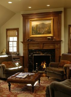 four club chairs in living room home color schemes 61 best furniture arrangement images dinner cozy like wall too fireplace mantels wood
