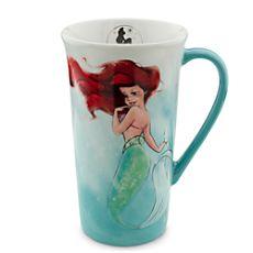 The Art of Ariel Mug - White/Aqua