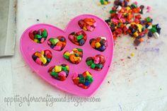DIY Heart Crayons