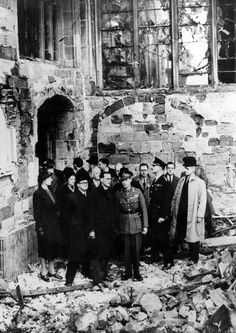 George VI visits Coventry Cathedral, November 16, 1940