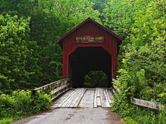 Covered Bridge Bean Blossom Indiana