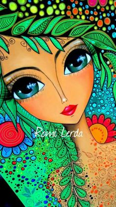 Romi Lerda Artwork Texture Painting On Canvas, Canvas Art, Abstract Face Art, Hippie Art, Arte Popular, Mexican Art, Whimsical Art, Art Plastique, Indian Art