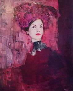 Le Modele 2003 33x28 by Richard Burlet, Original Painting, Oil on Canvas