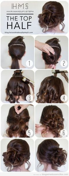 fast hairstyles for medium and long hair for every day. 25 fast hairstyles for medium and long hair for every day. 25 fast hairstyles for medium and long hair for every day. Messy Bun Hairstyles, Fast Hairstyles, Trendy Hairstyles, Beautiful Hairstyles, Natural Hairstyles, Curly Haircuts, African Hairstyles, Long Thick Hairstyles, Date Night Hairstyles