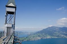 View from the peak of the mountain of Luzern, the highest point