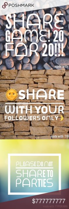 """Sharing Is Caring!  1. Share 20 random listings from my closet. 2. Comment """"done"""" 3. I will share 20 random listings from your closet! 4. If I do not share right away, I will share ASAP and leave you a comment as well. 5. I will only share Posh Compliant Closets. 6. Make sure to check out my bestie PFF's 20 for 20 Share game too  @ashjesh 7. Thank you!  Sharing Is Caring Jeans Boot Cut"""