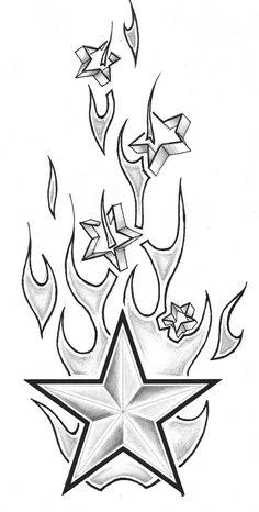 Tribal Flames Dice Tattoo Design - Tattoes Idea 2015 / 2016