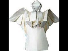 Оригами  АНГЕЛ с крыльями, Origami , angel. КАК сделать Ангела из бумаги.