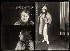Mugshots from the 1920s: E. Ashton, 1929. Backyard abortionist who also dabbled in theft and fencing stolen good.