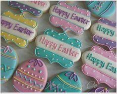 "Heather Impson on Instagram: ""Happy Easter!! #eastercookies #eastereggs #eastereggcookies #plaquecookies"""