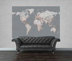 Rs blue map political wall mural wallpaper and contact papers rs blue map political wall mural wallpaper and contact papers industrial designs pinterest wall murals contact paper and industrial sciox Images
