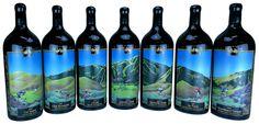 Stunning #sandcarved wine bottles by Fresh Northwest Design.