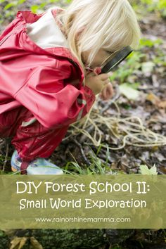 DIY Forest School II: Small World Exploration. Nature activity for preschoolers from Rain or Shine Mamma.