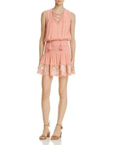 RahiCali Rosy Lace-Up Dress | Bloomingdale's