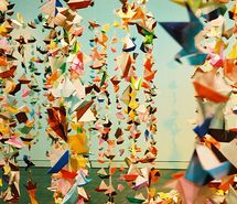 Inspiring picture colorful, fortune tellers, garland, hanging, origami. Resolution: 500x326 px. Find the picture to your taste!