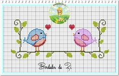 Bordados da Zi: Pássaros