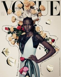Adut Akech & Vilma Sjöberg Cover Vogue Italia September 2019 Issue