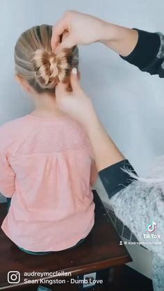 Baby Girl Hairstyles, Easy Hairstyles For Long Hair, Bun Hairstyles, Easy Toddler Hairstyles, Girl Hair Dos, Long Hair Styles, Baby Hair Styles, Bun Styles, Crazy Hair