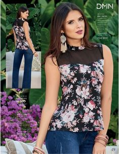 Dominio / Campañas 16 / 17 - 2017 Kurti Neck Designs, Blouse Designs, Flattering Plus Size Dresses, Trendy Tops For Women, Office Outfits, Blouse Styles, Dress Collection, Asymmetrical Tops, Women's Summer Fashion