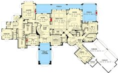 Spectacular European Showplace - 69463AM | Architectural Designs - House Plans