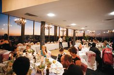 Guests enjoy a twilight reception at Hotel Urban Brisbane {Photography: We Are Twine }