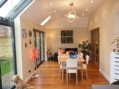 single storey rear extension ideas - multiple use room - dining, second sitting room, office Extension Plans, Side Extension, Home Living Room, Living Area, Lean To Conservatory, Conservatory Ideas, Single Storey Extension, House Extensions, New Homes