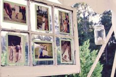 picture display at wedding