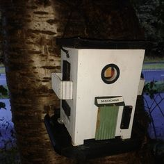 nicely crafted #geocache birdhouse