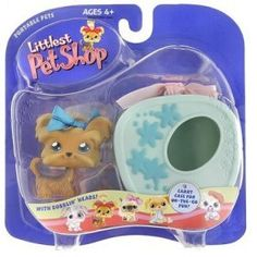 Littlest Pet Shop Pets On The Go Figure Shihtzu Puppy Dog with Blue Carry Case ** Click image to review more details.