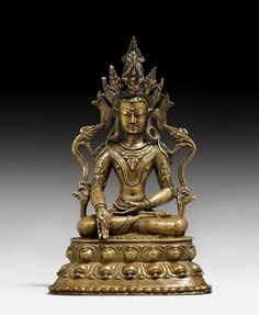 TATHAGATA RATNASAMBHAVA. Westtibet, 13./14. Jh. H 29 cm. Divine Mother, Shiva Shakti, Buddhist Art, Tibet, Asian Art, Buddhism, Lion Sculpture, Statue, Ring