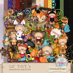 Lil T.O.T.'s {Page Kit} by #SnickerdoodleDesigns and #Kimberkatt Scraps
