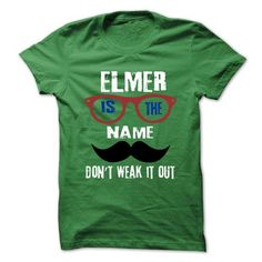 ELMER Is The Name - 999 Cool Name Shirt ! - #logo tee #tshirt scarf. PRICE CUT  => https://www.sunfrog.com/Outdoor/ELMER-Is-The-Name--999-Cool-Name-Shirt-.html?60505