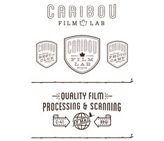 Caribou Film Lab identity design by Chad Roberts