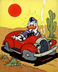 Image shared by Jata. Find images and videos about disney, car and donald duck on We Heart It - the app to get lost in what you love. Retro Disney, Disney Duck, Old Disney, Vintage Disney, Disney Art, Vintage Cartoons, Vintage Comic Books, Vintage Comics, Donald Duck Comic