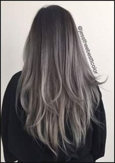gray balayage hair | Hair | Pinterest | Gray balayage, Balayage ... | Einfache Frisuren