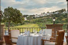 Enjoy breathtaking views of the Andalucian landscape from the Laurel restaurant at La Cala Resort in Costa del Sol.