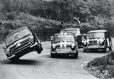 Fords eh, crap in corners, coming through. Minis at Catalina Park, Katoomba